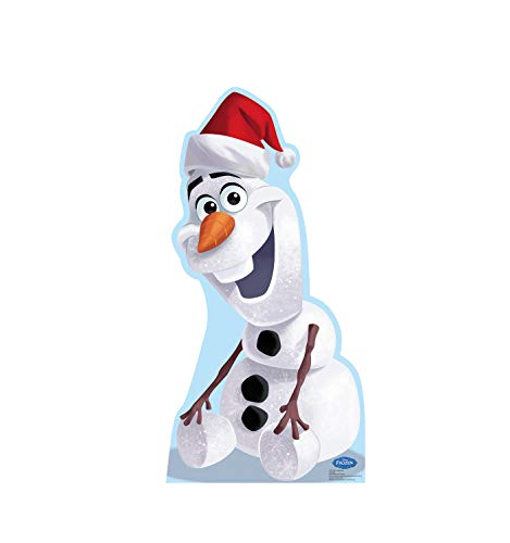 (Advanced Graphics Olaf in Santa Hat Life Size Cardboard Cutout Standup - Disney's Frozen (2013 Film))
