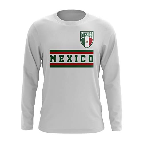 Airosportswear Mexico Core Football Country Long Sleeve T-Shirt (White)
