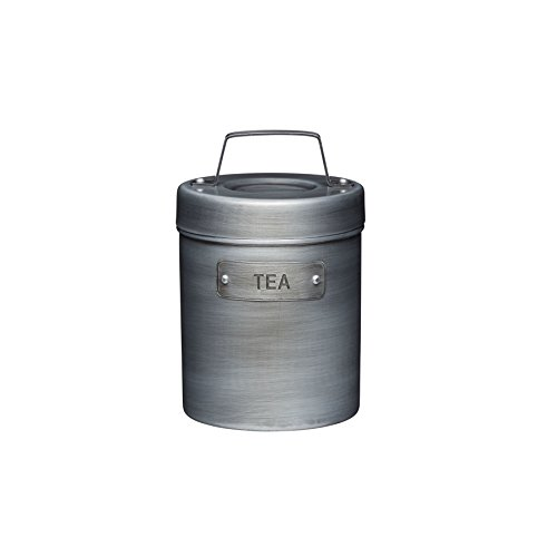 Canister Tea Vintage (Kitchencraft Industrial Kitchen Vintage-style Metal Tea Caddy, 1 L (1.75 Pts))