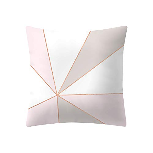 DORIC Rose Gold Pink Cushion Cover Square Pillowcase Home Decoratio (Throw Quilted Gold)