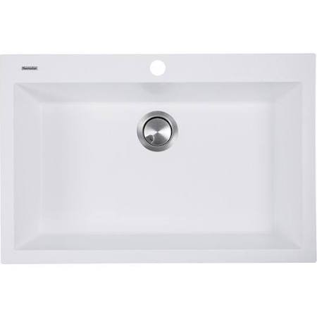 Nantucket Sinks Large Single Bowl Dual-mount Granite Composite White