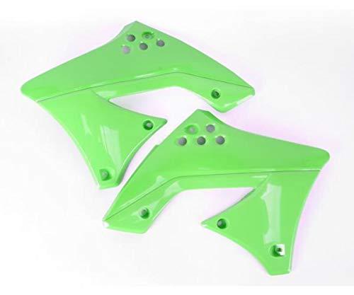(UFO Plastics Radiator Covers Green for Kawasaki KX250F 2010)