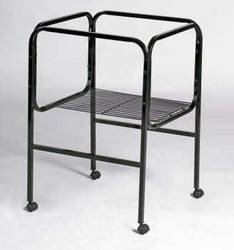 Prevue Pet Products BPV444 Bird Cage Stand with Castors for 18-Inch Diameter Base Cages, Black/White