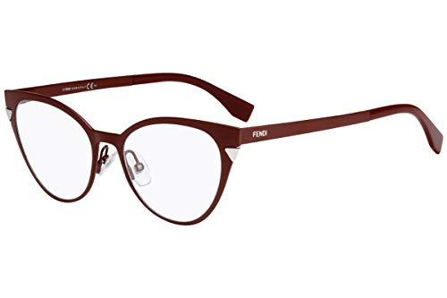Fendi FF0126 Eyeglasses 51-17-140 Red w/Demo Clear Lens MQF FF 0126