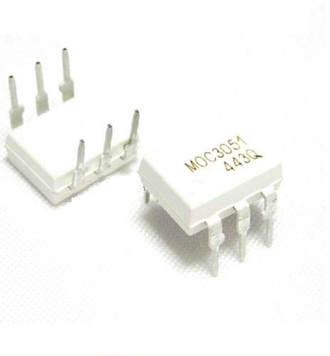 BELONG 5 PCS IC MOC3051 OPTOCOUPLER TRIAC-Out 6-DIP by BELONG