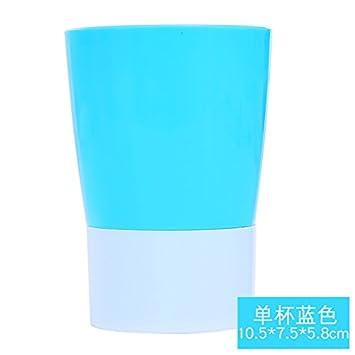 XXAICW Montura de pasta cepillo de dientes porta cepillo de dientes titular baño la taza fija en un lavar vaso Portacepillos vaso, Una taza azul: Amazon.es: ...