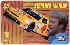 Collectible Phone Card: PhonePak 1996 $5. Sterling Marlin (Kodak Film)