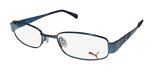 Puma 15244 Tavarua Mens/Womens Flexible Hinges Durable Signature Logo Hip TIGHT-FIT Designed For Jogging/Cycling/Sports Activities Eyeglasses/Glasses (48-18-135, ()