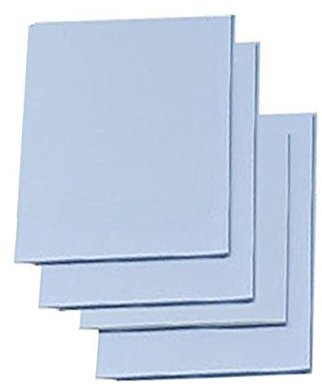 "Easy Cut Carving Sheets - 4 Pack Blue Soft & Firm Artist Printmaking Block Printing set for sharp, clear prints Easy-To-Cut Linoleum (5"" x 5"")"