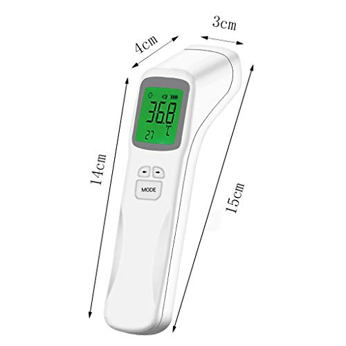 BiuBuy Infrared THERMOMèTRE Instant Accurate Reading Temporal Forehead with Fever Alarm and Memory Function for Baby & Adults (White)