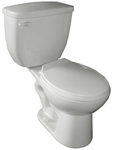 """Cascadian Sanitary Ware CTR 601 704 17-1/8"""" 1.28 gallon Round Water Sense Toilet with 3"""" Flapper"""