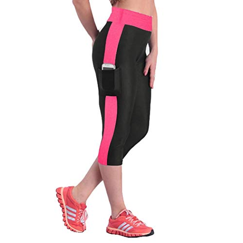 Donna E Edited Stretch Jogging Rose Fitness Alta Con Vita Black Pantaloni Red Da Aqq1wIT6