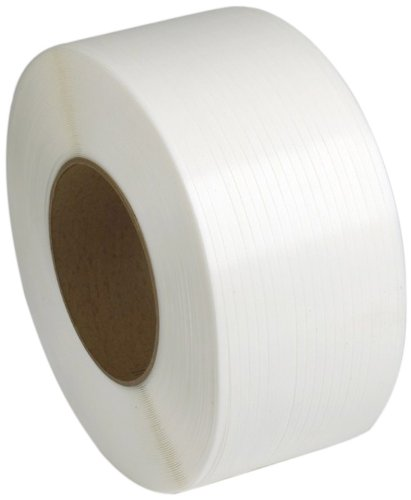 PAC Strapping 38M.25.2212 3/8'' Machine Grade White Polypropylene Strapping, 12,900' length
