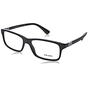 Prada PR06SV Eyeglass Frames 1AB1O1-54 - Black PR06SV-1AB1O1-54