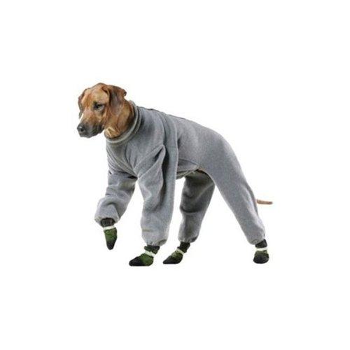 Muttluks 4-Legged Fleece Dog Jogger, Size 8, Grey