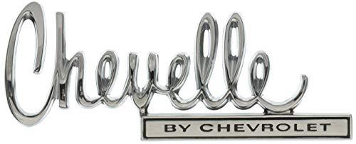 """Trim Parts 4676 Trunk Lid Emblem (1970 Chevelle """"Chevelle By Chevrolet"""")"""