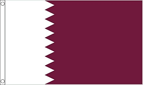 Qatar Flag - Large 5 x 3 FT 150cm x 90cm - ShamrockSuperstor