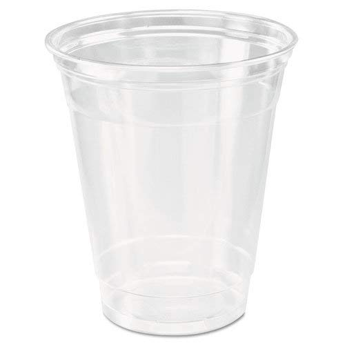 [200 COUNT] 12oz Clear Plastic Disposable Cups - Premium 12 oz (ounces) Crystal Clear PET Cup (No Lids) for Cold Drinks Iced Coffee Tea Juices Smoothies Slush Soda Cocktails Beer -