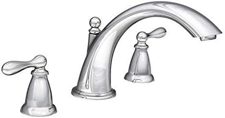 Moen FBA_86440 Deck Mounted Roman Tub Faucet Trim from the Caldwell Collection, Chrome