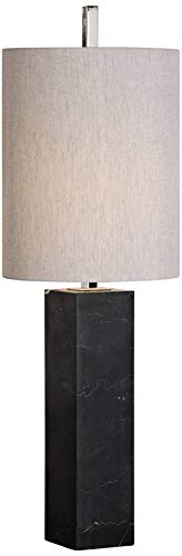 Marble Column Lamp - Uttermost Delaney Black Marble Square Column Table Lamp