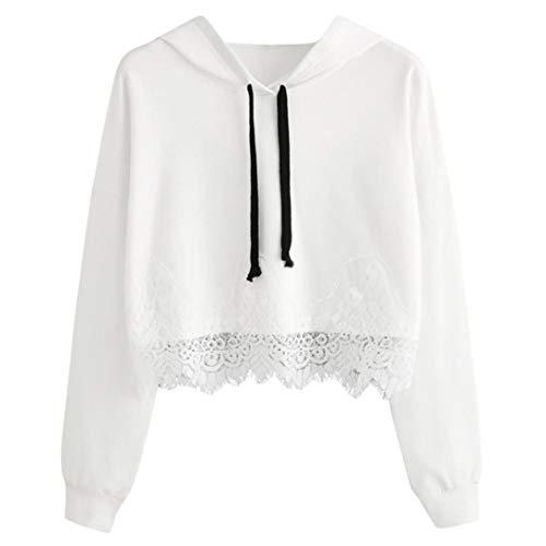 2 Hoodie Rayures Dentelle Vetement Pull Mode Ananas SANFASHION Chic Shirt Florale Femme Sweat Lettres Longue Blanc Manche Imprission 0dqxwY