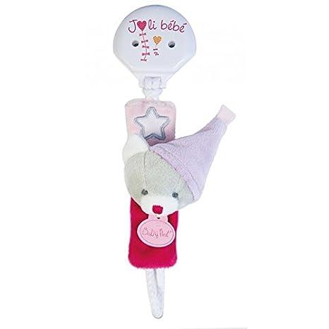 Babynat - Doudou Babynat Attache Tetine chupete los luminosos gato rosa bn0136 - 8947: Amazon.es: Bebé