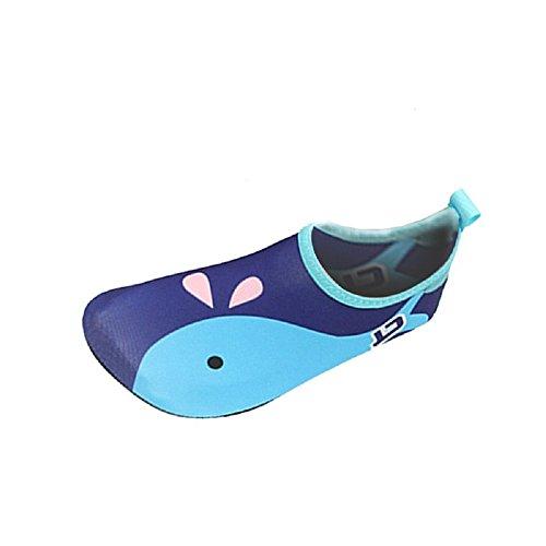 iBaste Wassersportschuhe Kinder Wasserschuhe Strandschuhe Badeschuhe Surfschuhe Tanzschuhe Aquaschuhe für Jungen und Herren Rutschfeste Gummisohle Super leicht und Sehr gut gedämpft Blau