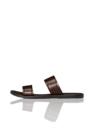 FIND Men's Leather Sandals Brown (Brown 200) cDJxxIRZ