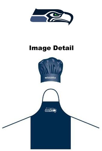 Seattle Seahawks NFL Team Logo Sports Fan BBQ Barbeque Cook Grill Home Outdoor Indoor Tailgating Picnic Men Chef Hat & - Apron Bbq Logo