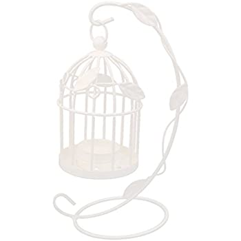 Tinksky Candlestick Hanging Candle Holders Birdcage Style Vintage Candle Lantern for Party Wedding Home Decoration