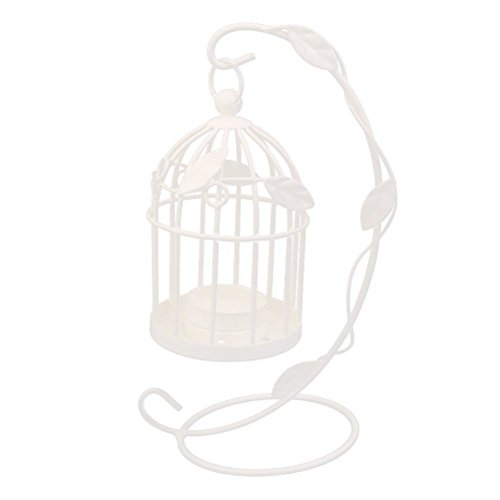 - Tinksky Candlestick Hanging Candle Holders Birdcage Style Vintage Candle Lantern for Party Wedding Home Decoration