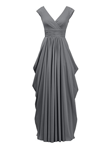 Gray The Long Dress Formal Wedding Prom Bride Gown Evening Mother Steel Alicepub of for 14wqOTOx