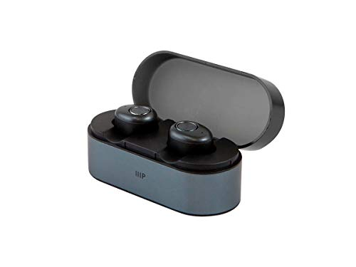Monoprice MP True Wireless Earphones - Black with Charging Case, Stereo Sound, 4.5 Hours Battery Life, and 30 Feet Wireless Range