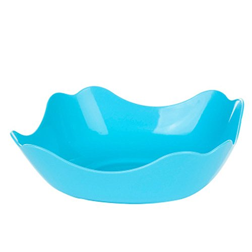 Everyfit Plastic Bowls Fruit Bowl Salad Bowl Candy Dish Seeds Bowl Tray Dried Snack Tray Household bowl,Party Serving Bowls,Multipurpose Colorful bowl (Square shape, ()