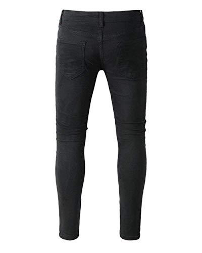 Da Vestibilità Regolare Ragazzo Denim Strappati Pantaloni Con Nero Qk Uomo lannister Jeans Skinny Destrutturati qgRqxFtw