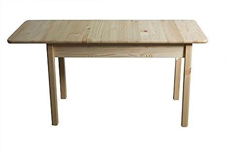 Bois Massif Table 120 X 80 Cm Pin Extensible Jusquà 170 Couleur