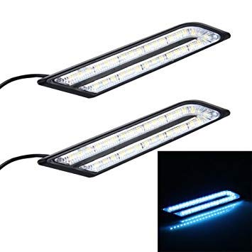 Uniqus 2 PCS 6W 33 LED DRL Daytime Running Lights Lamp, DC 12V(Ice bluee Light)