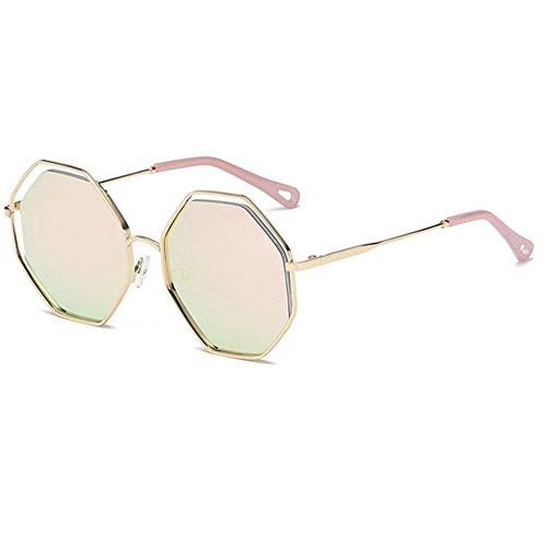 Aoligei Mode hommes et femmes lunettes de soleil polygone personnalité lunettes de soleil lunettes de soleil rétro AYEXrVo