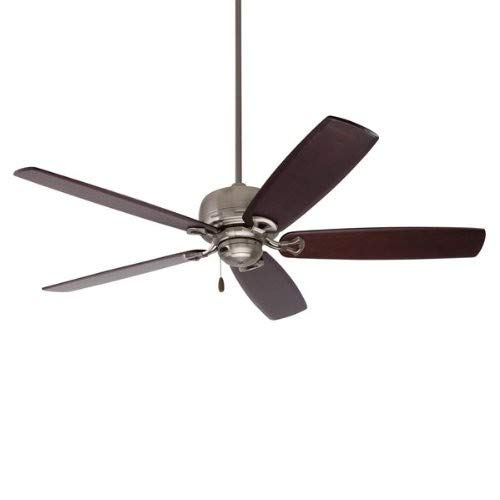 Emerson Ceiling Fans B78DM 25-Inch Solid Wood Indoor-Outdoor Ceiling Fan Blades, Dark Mahogany, Damp Location, Set of 5 Blades by Emerson (Image #1)
