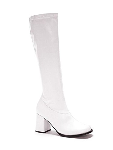 GoGo Shoes - Size 7, Color: White (Pink Boots)
