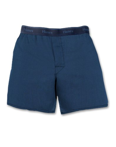 Hanes Big Boys' Yarn Dyed Boxer, Assorted, X-Large(Pack of 3)