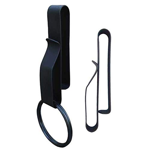 Ring Dark Key - Zak Tool ZT52 Tactical Stealth Police Key Ring Holder (2.25-Inch Max), Black, 2-Pack