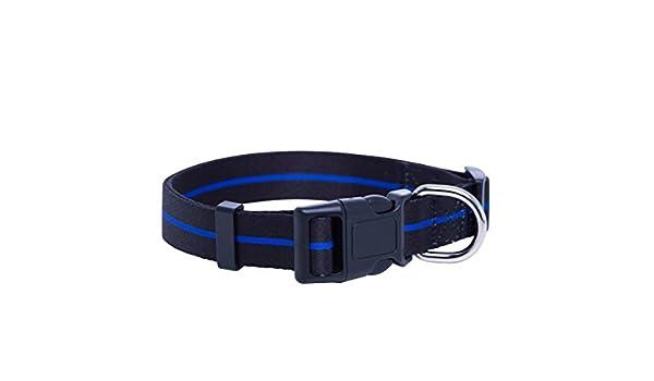 Native Pup Collar para Perro de la línea Azul de la policía ...