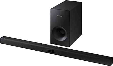 Samsung HW-J355-R 2.1 Soundbar & Wired Subwoofer System With Bluetooth, Black (Certified (Refurb Samsung Tablet)