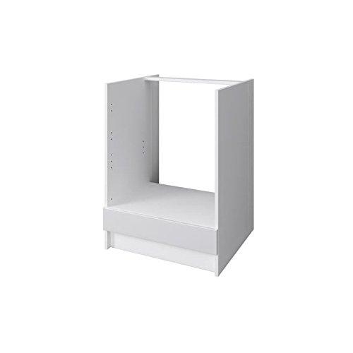 City mueble bajo horno 60 cm - blanco lacado brillante: Amazon.es ...