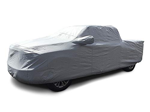 CarsCover Custom Fit 2016-2019 Toyota Tacoma Double Cab 5-ft. Short Bed Truck Car Cover Heavy Duty All Weatherproof Ultrashield
