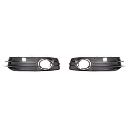 Fits Audi A3 2009-2013 Foglight Bezel w/Spot Package Chrome Trim Pair Driver and Passenger Side