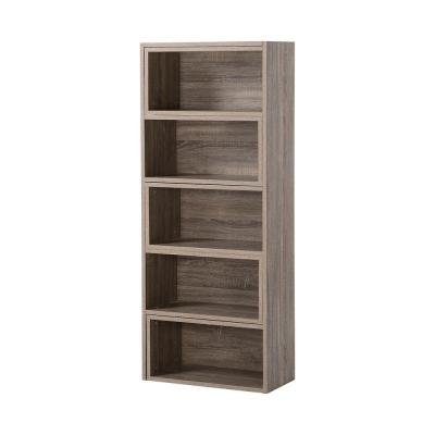Decorative Expandable Shelving Console in Reclaimed Wood 5 or 9-Shelf - Expandable Corner Tv Console