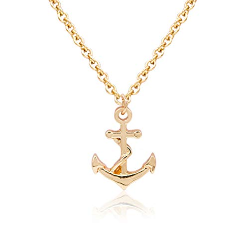 Daycindy Anchor Necklaces for Women Best Friend Adjustable Chain Necklace ()