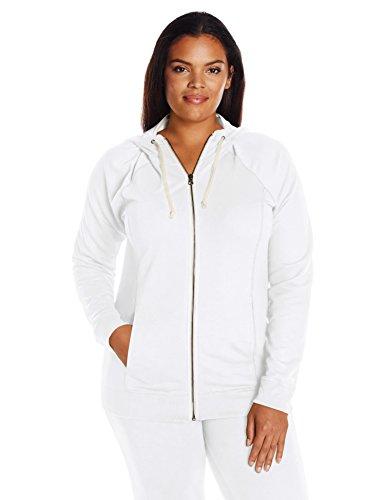 Champion Women's Plus-Size French Terry Full Zip Jacket, White, 1X -